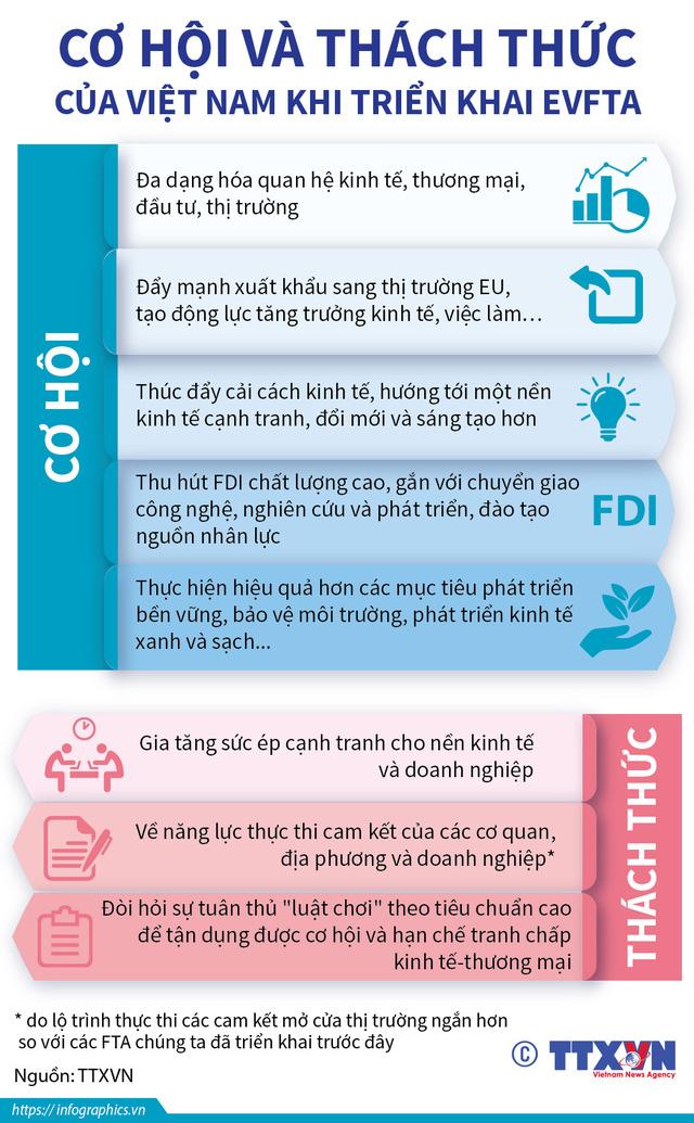 Cơ hội và thách thức của Việt Nam khi triển khai EVFTA - Ảnh 1.