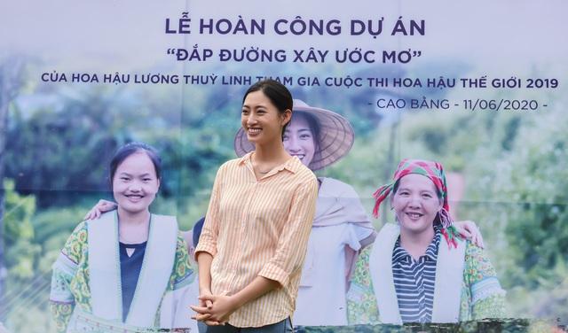 Hoa hậu Lương Thùy Linh khánh thành con đường hơn 2 tỷ đồng - Ảnh 1.