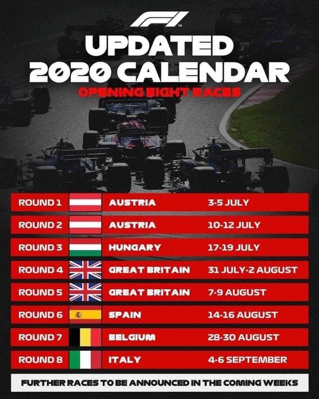 Đua xe F1: Xác nhận lịch đua 8 chặng đầu tiên - Ảnh 2.