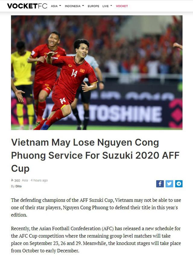 ĐT Việt Nam có thể thiếu vắng Công Phượng ở AFF Cup 2020 - Ảnh 1.