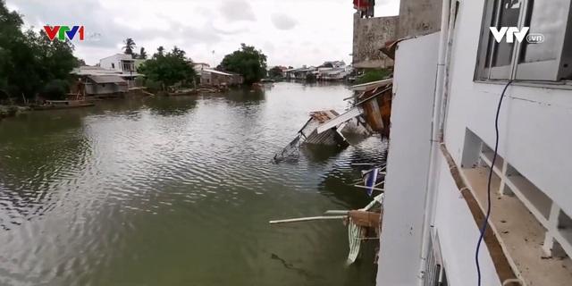 Gia tăng sạt lở vì khô hạn tại Đồng bằng sông Cửu Long - Ảnh 1.
