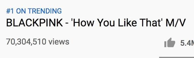 How You Like That của BLACKPINK vượt qua 70 triệu lượt xem - Ảnh 1.