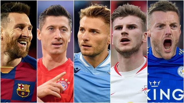 Cuộc đua Chiếc giày vàng châu Âu 2019/2020: Lewandowski đang dẫn đầu, Messi và Ronaldo không có trong top 3 - Ảnh 1.