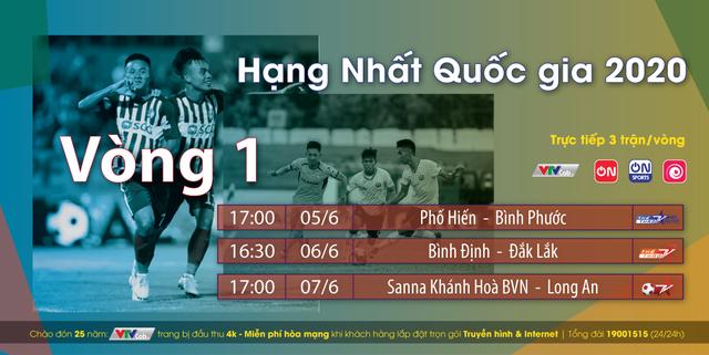 Xem trực tiếp vòng 3 V-League và giải Hạng Nhất Quốc gia 2020 trên VTVCab - Ảnh 2.