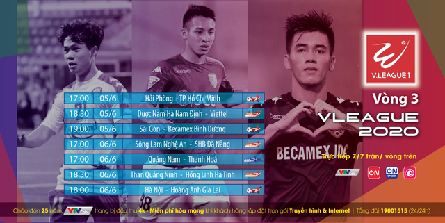 Xem trực tiếp vòng 3 V-League và giải Hạng Nhất Quốc gia 2020 trên VTVCab - ảnh 1