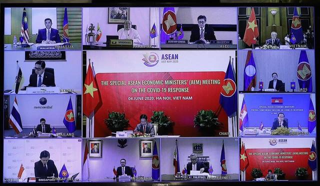 Hội nghị Bộ trưởng Kinh tế ASEAN: Tăng cường hợp tác kinh tế, kết nối chuỗi cung ứng đối phó dịch COVID-19 - Ảnh 1.