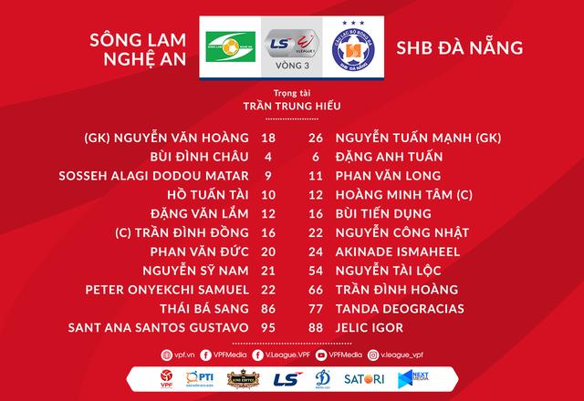 [KT] Sông Lam Nghệ An 1-0 SHB Đà Nẵng: Văn Đức ghi bàn, đội chủ nhà giành trọn 3 điểm - Ảnh 2.