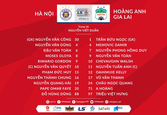 [KT] CLB Hà Nội 3-0 Hoàng Anh Gia Lai: Rimario lập cú đúp, CLB Hà Nội thắng nhàn - Ảnh 2.