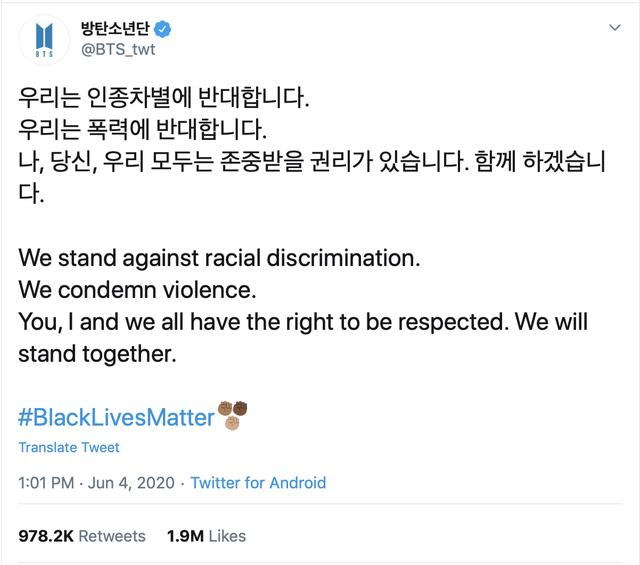 Fans của BTS làm theo thần tượng kêu gọi 1 triệu USD chống phân biệt chủng tộc - Ảnh 3.