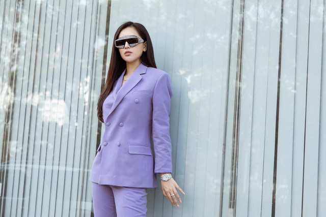 Bắt trend tím pastel, sao Việt nổi bần bật - Ảnh 8.