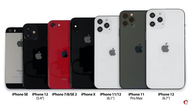 iPhone 12 đọ dáng cùng các phiên bản iPhone đời cũ - Ảnh 1.