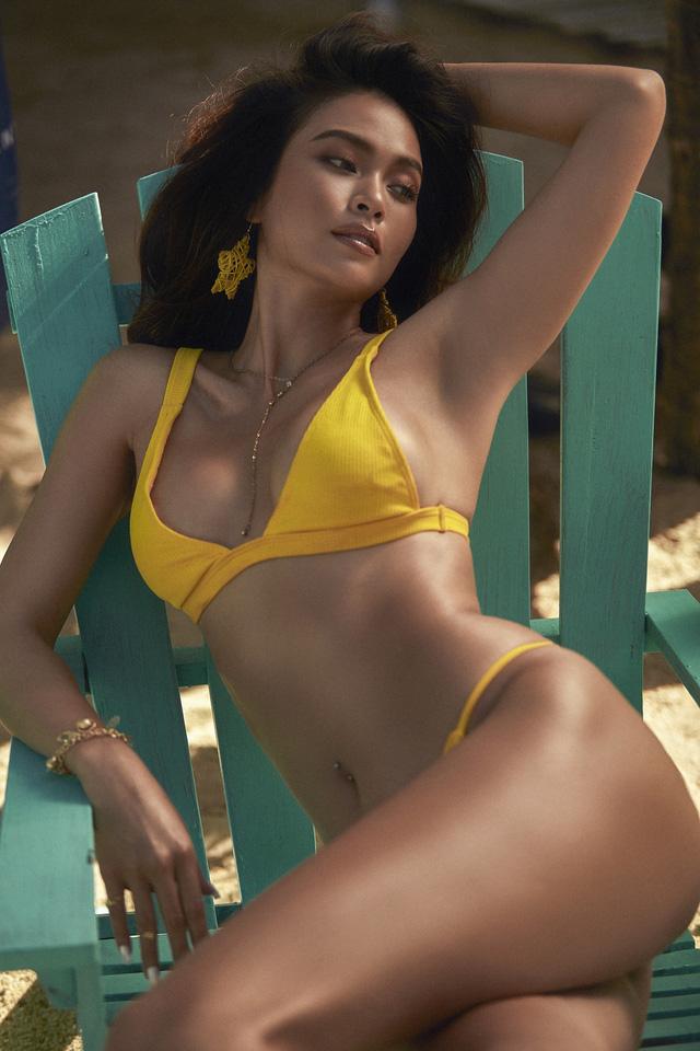 Mâu Thủy khoe bộ ảnh bikini với làn da nâu thiêu đốt bãi biển - Ảnh 3.