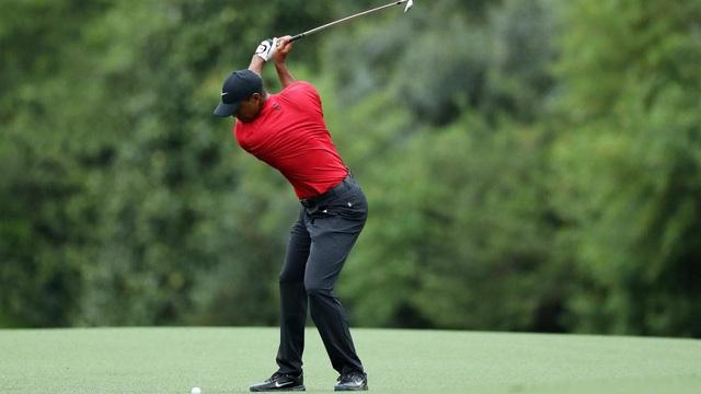 Tiger Woods trở lại thi đấu sau 5 tháng - Ảnh 1.