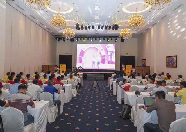 ẢNH: Toàn cảnh buổi lễ công bố Giải xe đạp VTV Cúp Tôn Hoa Sen 2020 - Tự hào 50 năm VTV - Ảnh 4.