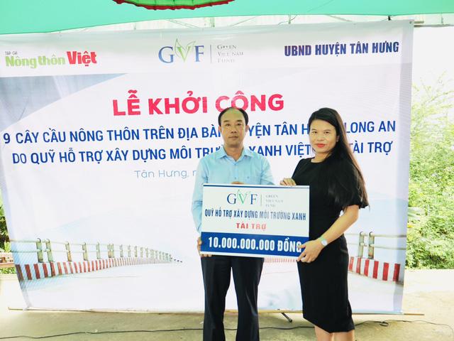 Khởi công xây dựng 9 cây cầu tình nghĩa tại huyện Tân Hưng, Long An - Ảnh 1.
