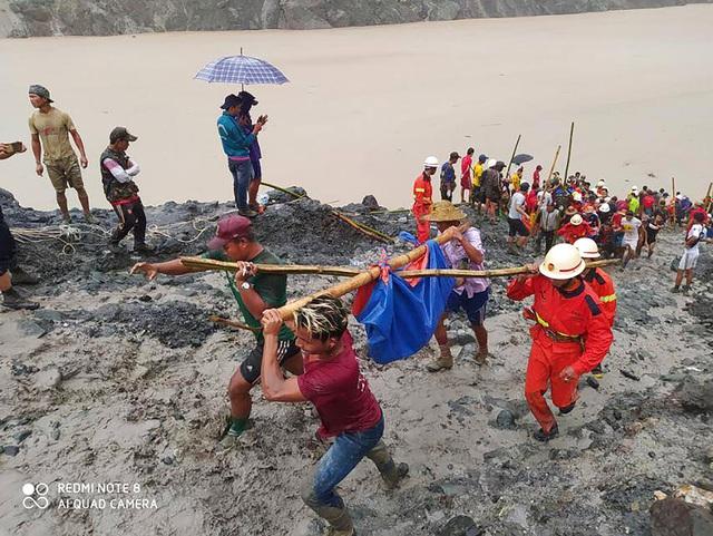 Sập mỏ ở Myanmar, 113 người chết, số thương vong còn tiếp tục tăng - Ảnh 2.