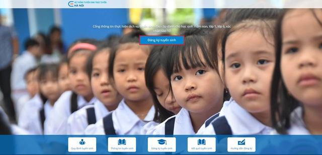 Hướng dẫn phụ huynh đăng ký tuyển sinh đầu cấp trực tuyến tại Hà Nội - Ảnh 1.
