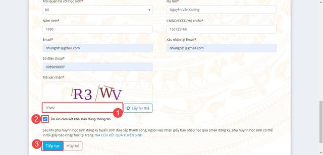 Hướng dẫn phụ huynh đăng ký tuyển sinh đầu cấp trực tuyến tại Hà Nội - Ảnh 5.