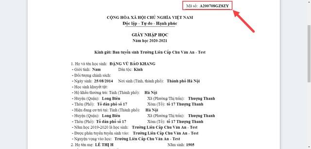 Hướng dẫn phụ huynh đăng ký tuyển sinh đầu cấp trực tuyến tại Hà Nội - Ảnh 6.