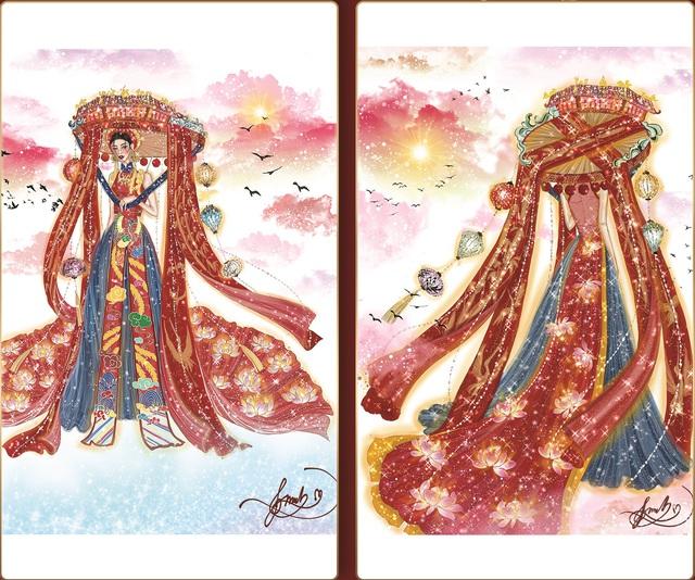 Lộ diện 8 thiết kế trang phục dân tộc cho Khánh Vân tại Miss Universe 2020 - Ảnh 1.