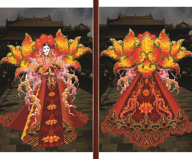 Lộ diện 8 thiết kế trang phục dân tộc cho Khánh Vân tại Miss Universe 2020 - Ảnh 3.