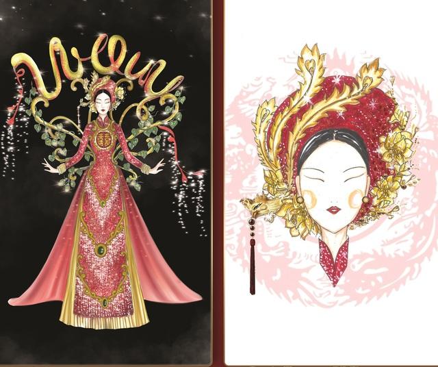 Lộ diện 8 thiết kế trang phục dân tộc cho Khánh Vân tại Miss Universe 2020 - Ảnh 4.