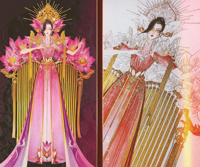 Lộ diện 8 thiết kế trang phục dân tộc cho Khánh Vân tại Miss Universe 2020 - Ảnh 6.