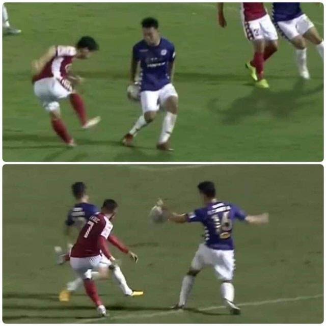 Tranh cãi xung quanh 2 tình huống không thổi phạt penalty trong trận CLB TP Hồ Chí Minh gặp CLB Hà Nội - Ảnh 7.