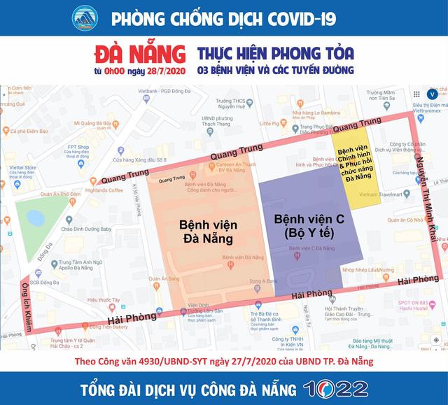 Đúng 0h ngày 28/7, Đà Nẵng bắt đầu thực hiện giãn cách xã hội trong vòng 15 ngày - Ảnh 5.