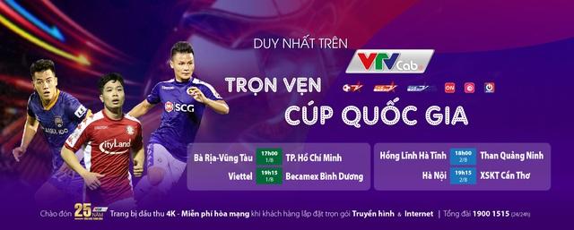 Tứ kết Cúp Quốc gia 2020 trực tiếp duy nhất trên VTVcab - Ảnh 1.