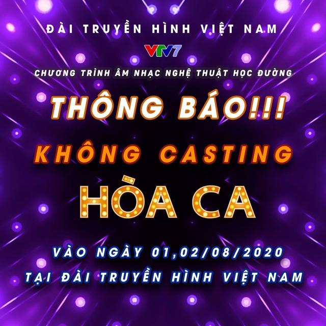 Hòa ca 2021 chuyển sang casting online - Ảnh 1.