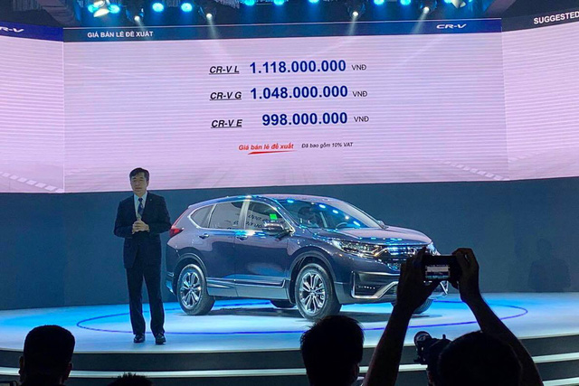 Honda CR-V 2020 chính thức ra mắt tại Việt Nam, giá từ 998 triệu đồng - Ảnh 1.