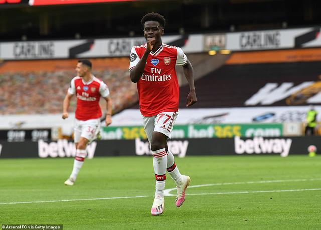 Wolverhampton 0-2 Arsenal: Saka - Lacazette lập công (Vòng 33 Ngoại hạng Anh) - Ảnh 1.