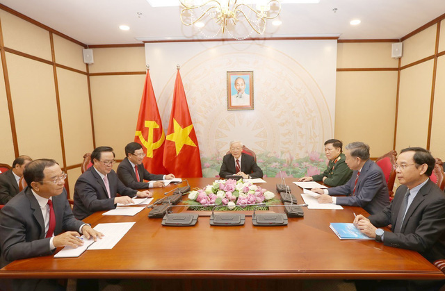 Tổng Bí thư, Chủ tịch nước cảm ơn Campuchia đã phối hợp chặt chẽ chống COVID-19 - Ảnh 1.