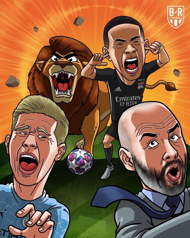 Ảnh chế sau trận Lyon thắng Manchester City - Ảnh 1.