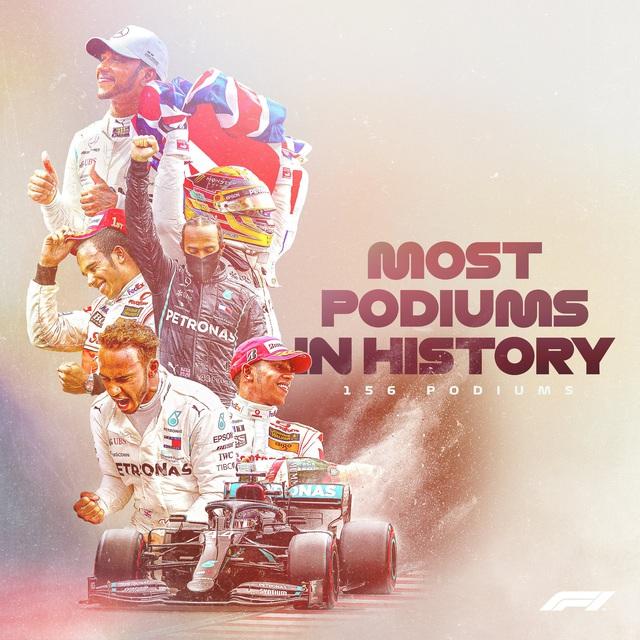 Hamilton vượt qua huyền thoại Schumacher về số lần giành podium - Ảnh 3.