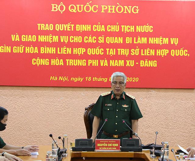 Việt Nam cử thêm 10 sĩ quan làm nhiệm vụ gìn giữ hòa bình Liên Hợp Quốc - Ảnh 1.