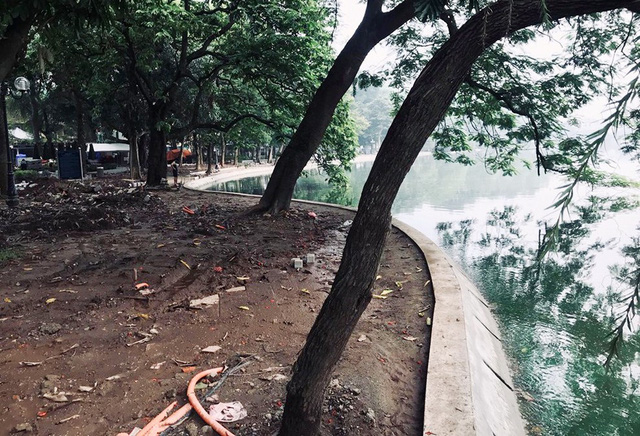 Hoàn thành công trình kè hồ Hoàn Kiếm sau 65 ngày thi công - Ảnh 13.