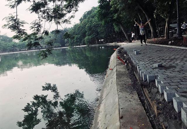 Hoàn thành công trình kè hồ Hoàn Kiếm sau 65 ngày thi công - Ảnh 12.