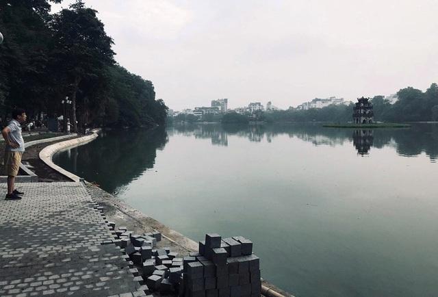Hoàn thành công trình kè hồ Hoàn Kiếm sau 65 ngày thi công - Ảnh 11.