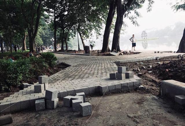 Hoàn thành công trình kè hồ Hoàn Kiếm sau 65 ngày thi công - Ảnh 6.