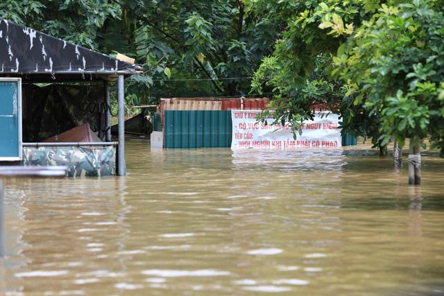 Mực nước sông Hồng lên nhanh, nguy cơ ngập lụt vùng trũng và bãi bồi - Ảnh 2.