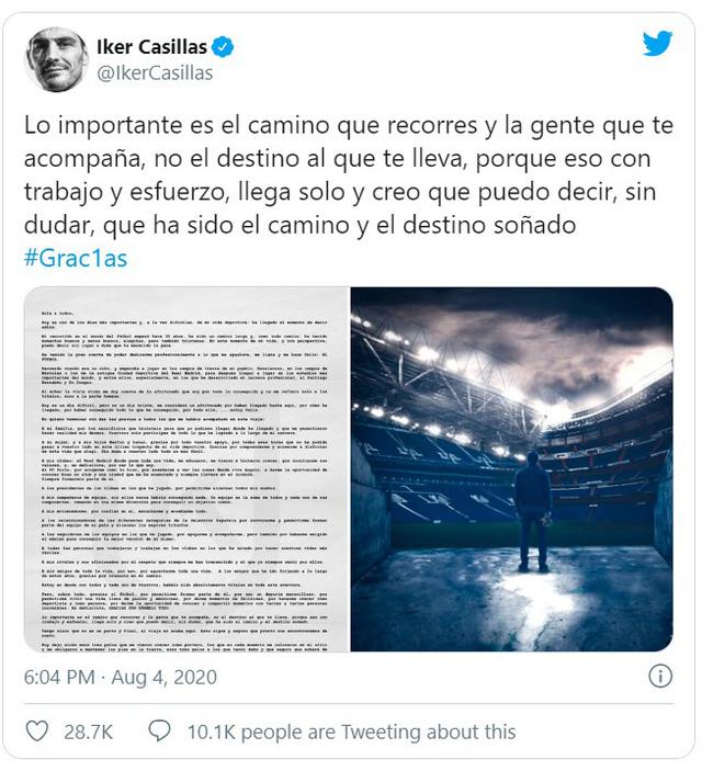 Thủ môn huyền thoại Iker Casillas tuyên bố giải nghệ ở tuổi 39 - Ảnh 1.