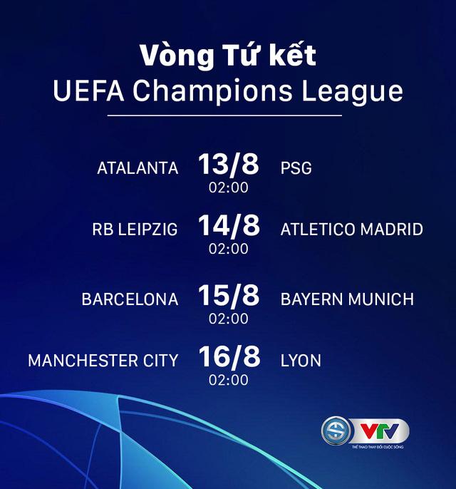 Champions League: Xác định 8 đội vào tứ kết và lịch thi đấu - Ảnh 1.
