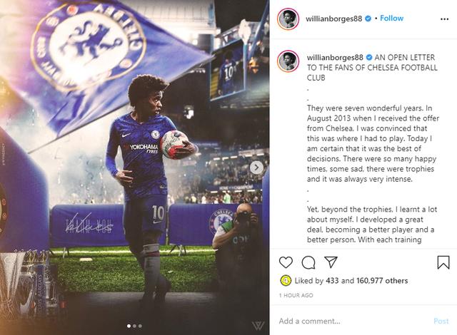 Willian gửi tâm thư tới fan, xác nhận chia tay Chelsea - Ảnh 1.