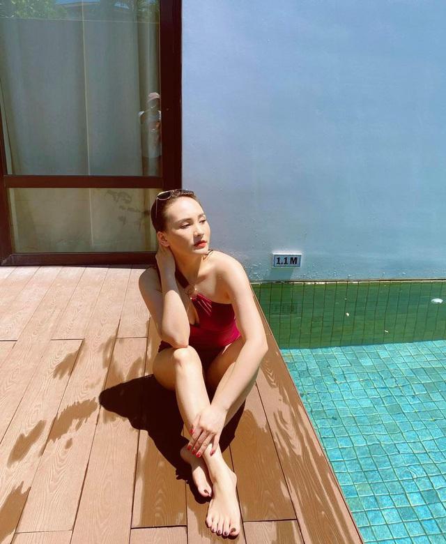 Bảo Thanh diện bikini cực gợi cảm qua góc máy của chồng - ảnh 7