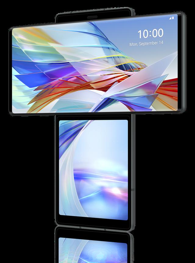 LG Wing chính thức trình làng với thiết kế 2 màn hình xoay độc đáo - Ảnh 1.