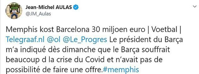 Barcelona không đủ tiền mua Depay - Ảnh 1.