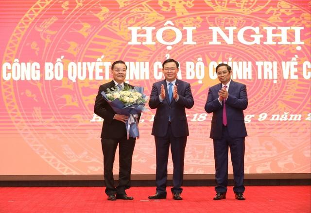 Ông Chu Ngọc Anh nhận quyết định giữ chức Phó Bí thư Thành uỷ Hà Nội - Ảnh 1.