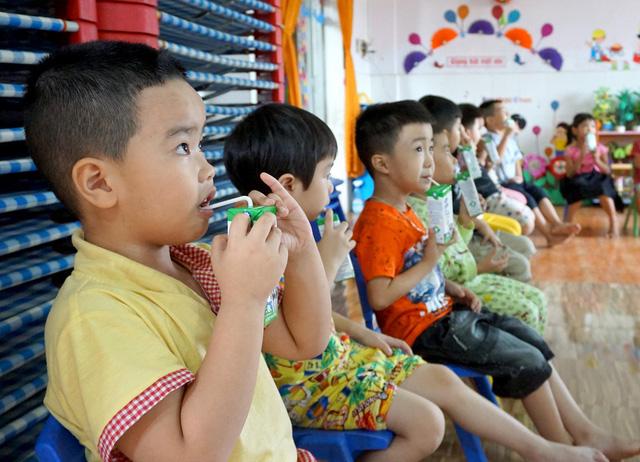 Bình Định tích cực với các công tác triển khai sữa học đường trong năm học mới - Ảnh 1.